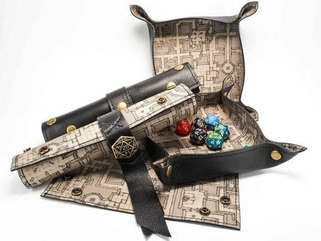 Canvas-Leather-Dice-Tray-Maps