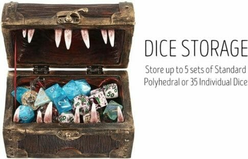 Custom Dice Trays for RPGS - custom dice tray for dnd - dungeons and dragons - custom dice rolling tray - customized dice trays - personalized custom dice trays for tabletop games and board gamers - dice storage chest mimic