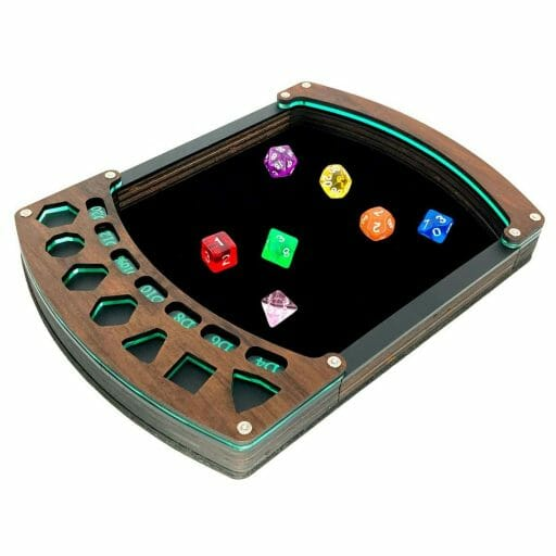 Custom Dice Trays for RPGS - custom dice tray for dnd - dungeons and dragons - custom dice rolling tray - customized dice trays - personalized custom dice trays for tabletop games and board gamers - acrylic