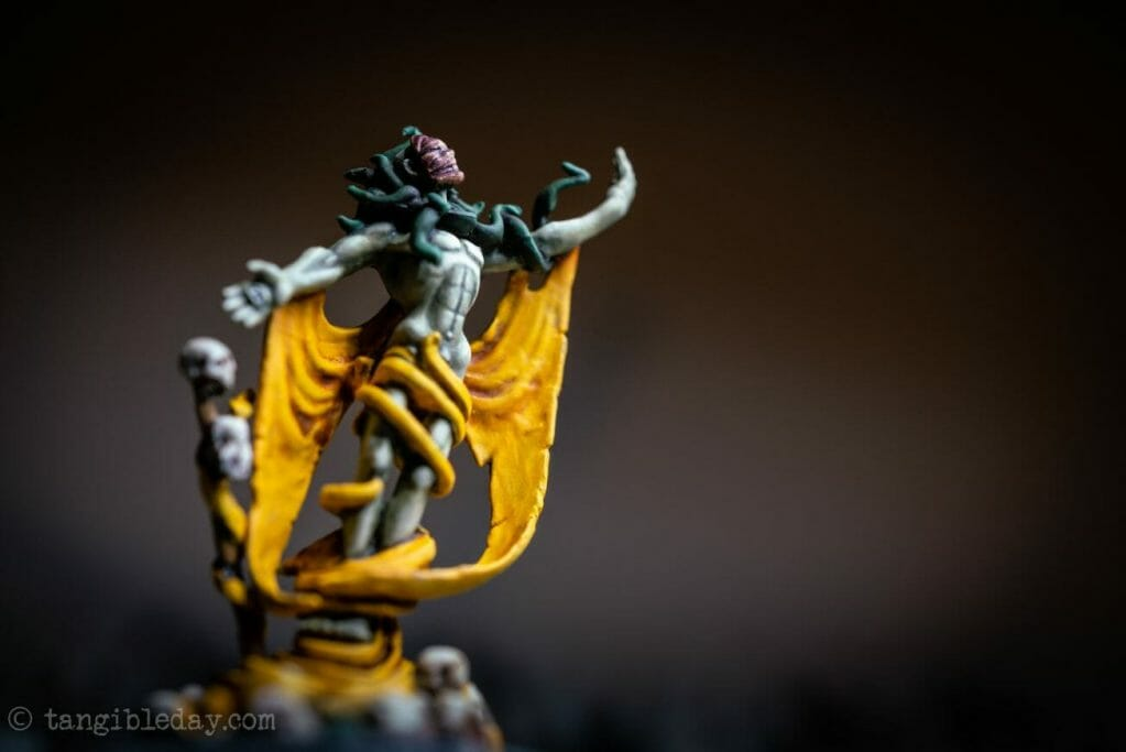 How to paint yellow models – shading yellow miniatures – painting yellow miniatures – painting board game miniatures – Cthulhu wars painting – Petersen Games - how to shade yellow minis – how to paint yellow minis and models – quick yellow painting – best yellow paint - final action photograph