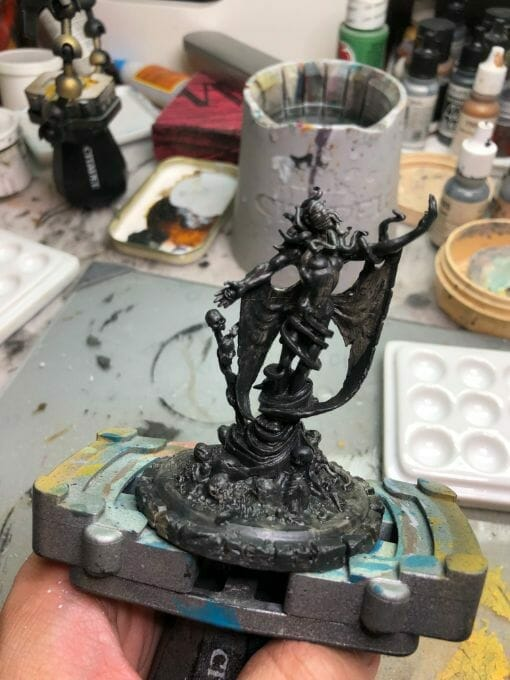 How to paint yellow models – shading yellow miniatures – painting yellow miniatures – painting board game miniatures – Cthulhu wars painting – Petersen Games - how to shade yellow minis – how to paint yellow minis and models – quick yellow painting – best yellow paint - two layers of primer