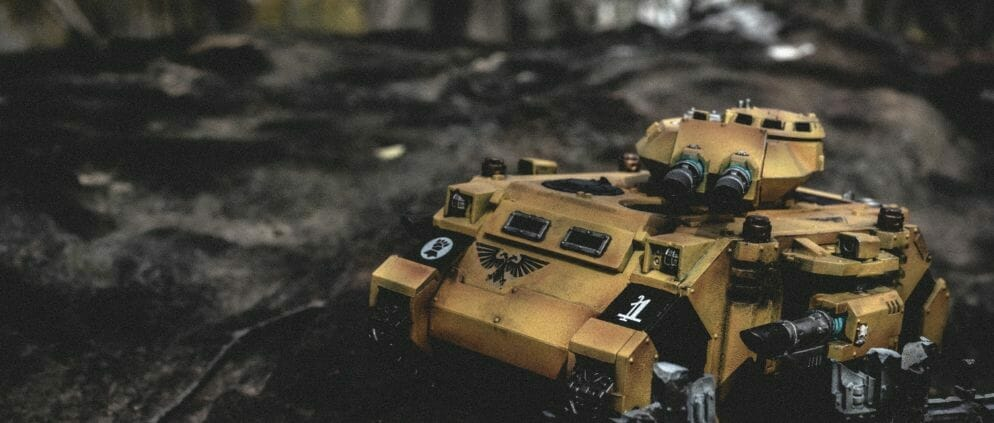 Pros and Cons of a Lightbox - How to Take Better Miniature Photos Without a Lightbox - Tips for Taking Better Pictures of Miniatures and Minis Without a Photobox studio - tips for hobby photography - miniature photography - imperial fist 40k warhammer
