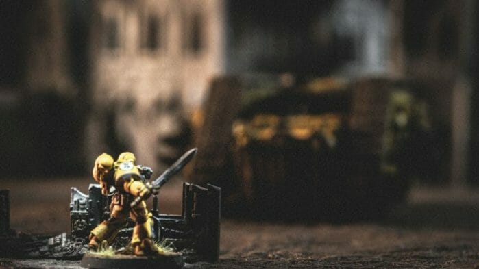 Pros and Cons of a Lightbox - How to Take Better Miniature Photos Without a Lightbox - Tips for Taking Better Pictures of Miniatures and Minis Without a Photobox studio - tips for hobby photography - miniature photography - close up imperial fist space marine