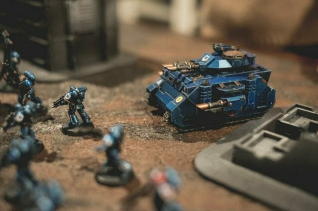Is Warhammer 40K Worth It? Why You Need to Play Warhammer 40k - Is Warhammer 40k expensive? - Should I start playing warhammer 40000 - why you should play WH40k - ultramarine tank close up
