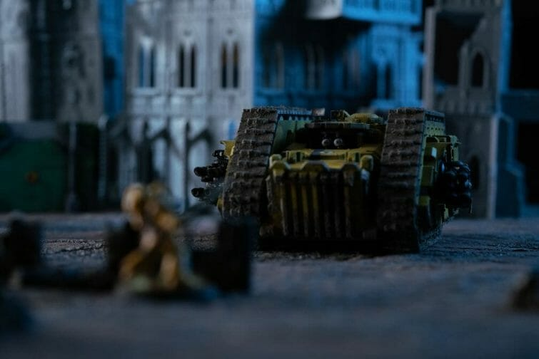 Pros and Cons of a Lightbox - How to Take Better Miniature Photos Without a Lightbox - Tips for Taking Better Pictures of Miniatures and Minis Without a Photobox studio - tips for hobby photography - miniature photography - nighttime shot