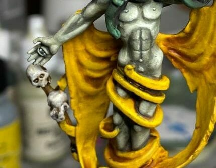 How to paint yellow models – shading yellow miniatures – painting yellow miniatures – painting board game miniatures – Cthulhu wars painting – Petersen Games - how to shade yellow minis – how to paint yellow minis and models – quick yellow painting – best yellow paint - blending skin highlights and texture