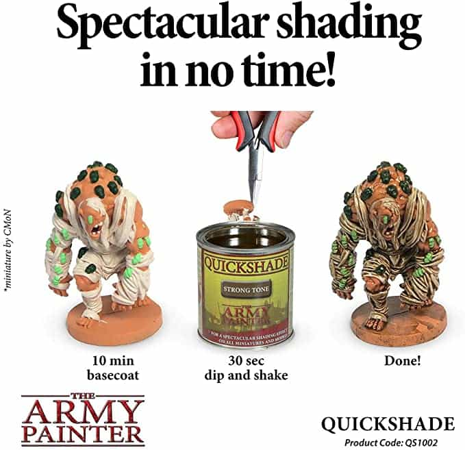 """Guide for """"Dipping"""" Miniatures to Speed Paint (Army Painter Quickshade Review) - Minwax Polyshades miniatures – Army Painter Quick Shade Alternatives – minwax polyshades for miniature painting - army painter quickshade review - army painter strong tone wash - army painter promo"""