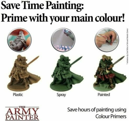 Top 10 Primers for Plastic and Metal Miniatures (Reviews and Tips) - best primer for plastic, metal, or resin miniatures and models. Are colored primers worth it? A color primer can save you time image