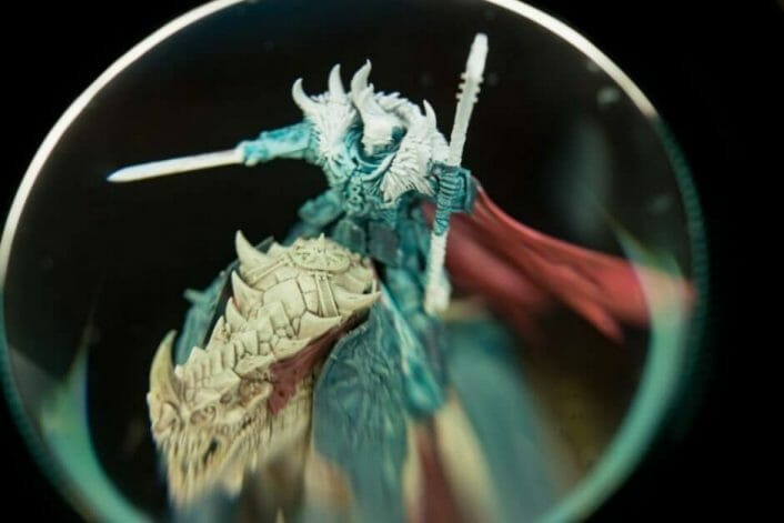 Take Professional Pictures of Your Miniatures Helpful Tips - Taking better photos of minis – photography tips for taking pictures of miniatures – simple tips for taking great photos of your painted miniatures – photography tips to help you produce better pictures – miniature photography guide -  magnifying lens