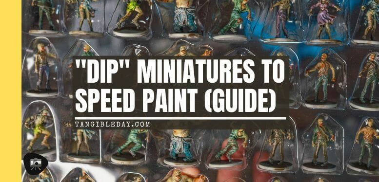 """Guide for """"Dipping"""" Miniatures to Speed Paint (Army Painter Quickshade Review) - Minwax Polyshades miniatures – Army Painter Quick Shade Alternatives – minwax polyshades for miniature painting - army painter quickshade review - army painter strong tone wash - banner"""