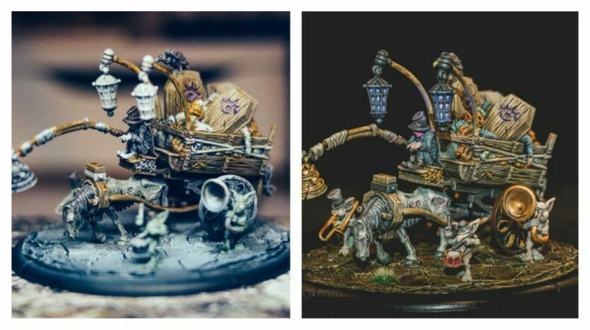 Use an Expressive Miniature Painting Style - What is expressive miniature painting? - Expressive painting - painterly styles for miniatures - 10 ways to paint miniatures expressively - 10 creative ideas for more expressive and unique miniature painting - unfinished vs finished grymkin death knell