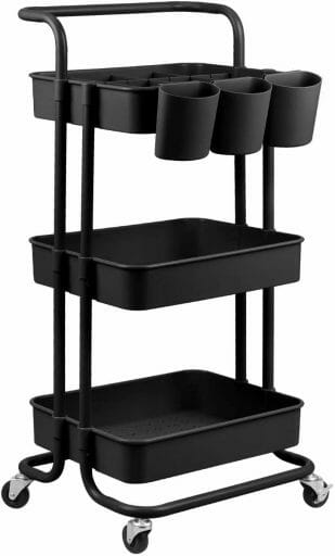 Best miniature painting desks - best hobby desk for miniatures and models - painting desks for miniatures - recommended desks for painting miniatures - wheeled cart alternative to l or u shaped desk