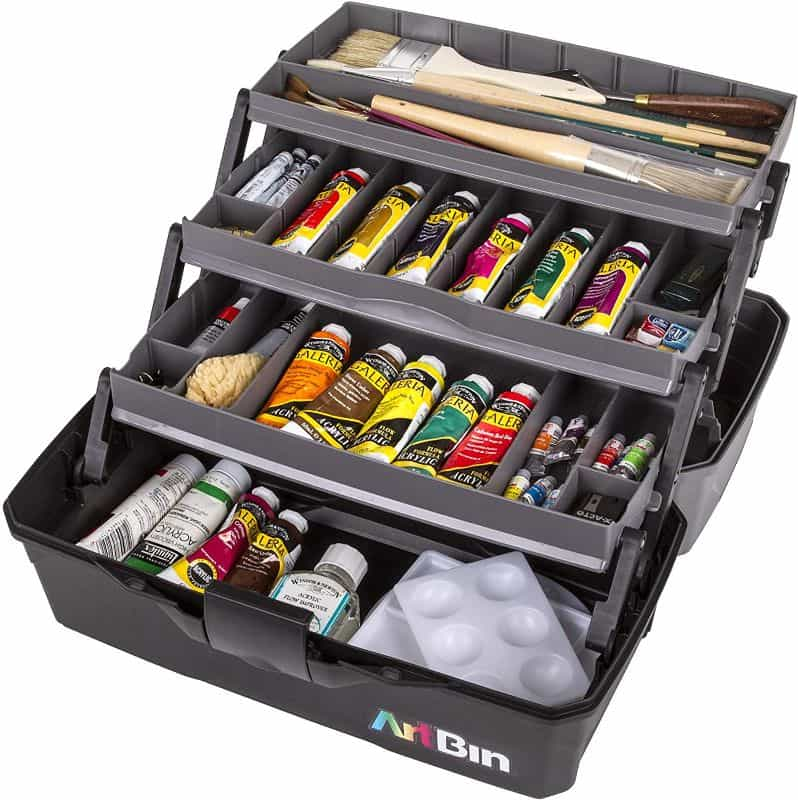 art supply box storage case for paint tubes - best paint tube storage racks and displays - how to store paint tubes