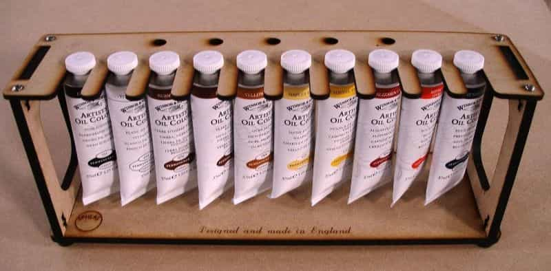 Acrylic and oil paint tube paint rack - best paint tube storage racks and displays - how to store paint tubes