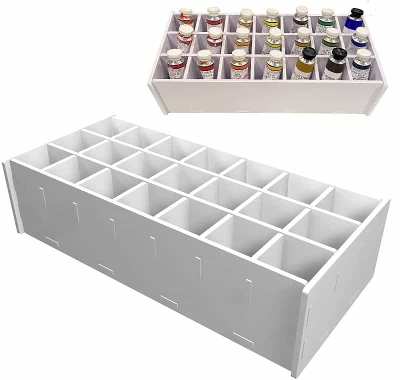 paint storage tray - best paint tube storage racks and displays - how to store paint tubes