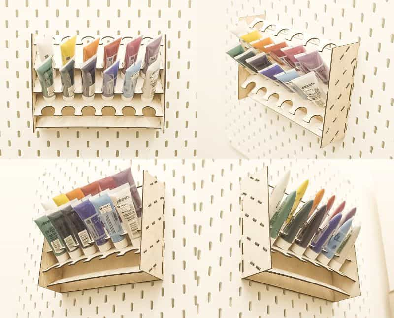 acrylic paint tube organizer rack - best paint tube storage racks and displays - how to store paint tubes