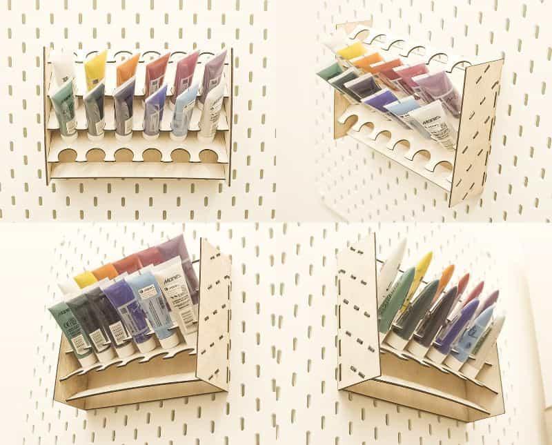 Pegboard-Acrylic-Paint-Organizer