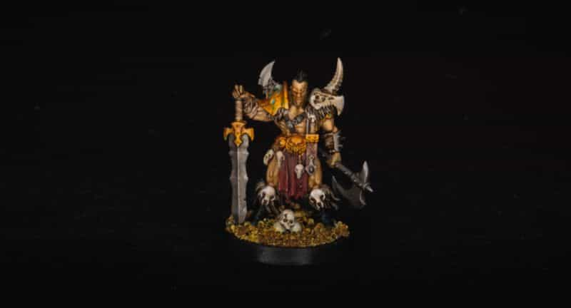 Basing Miniatures with Sand (Quick Method) - how to base miniatures with sand - sand basing models - realistic bases for miniatures - age of sigmar warhammer fantasy barbarian slaves to darkness chaos army model