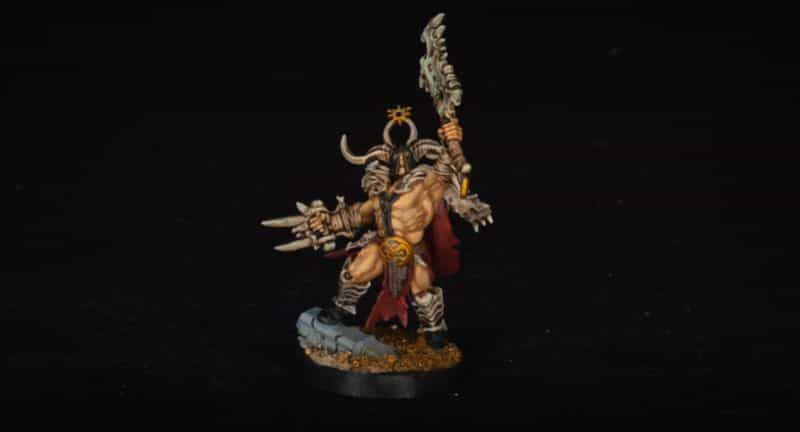 Basing Miniatures with Sand (Quick Method) - how to base miniatures with sand - sand basing models - realistic bases for miniatures - age of sigmar slaves to darkness warhammer model sand base