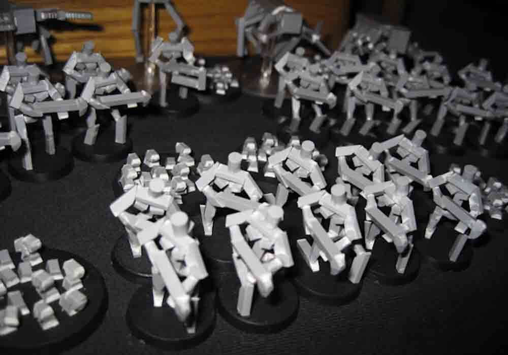 9 Recycling Ideas for Old Sprues from Warhammer and Model Kits - sprue terrain with Warhammer 40k kits – recycling Warhammer sprues – sprue army