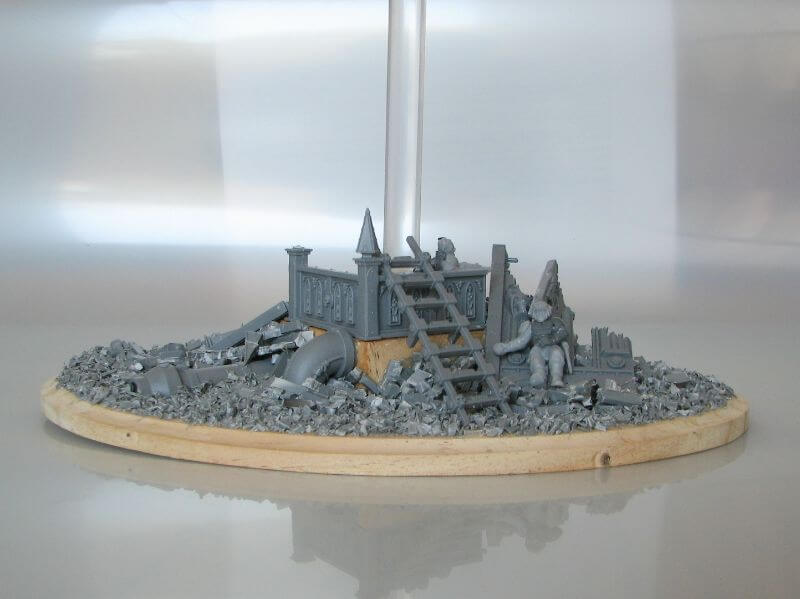 9 Recycling Ideas for Old Sprues from Warhammer and Model Kits - sprue terrain with Warhammer 40k kits – recycling Warhammer sprues – ground up sprues for basing material