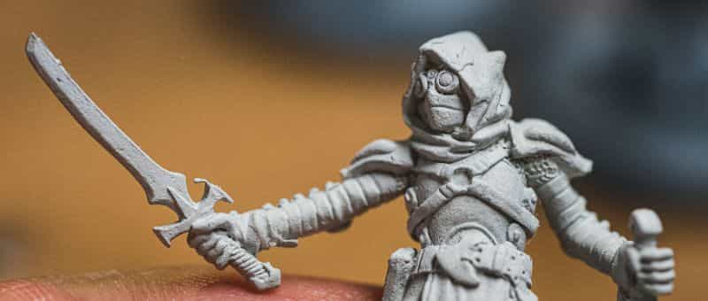 Top 3 Mistakes To Avoid When Priming Miniatures and Solutions -  tips for resolving and fixing primer issues on models - up close texture primer
