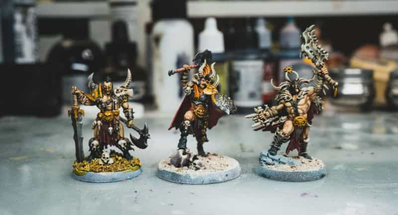 Basing Miniatures with Sand (Quick Method) - how to base miniatures with sand - sand basing models - realistic bases for miniatures - barbarians based with sand