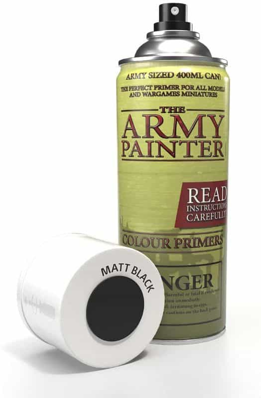 7 Best Spray Primers for Miniatures and Models (Review and Recommendation) - best spray primer for painting miniatures and models - spray priming miniatures - recommended spray primers for scale model hobbies - The army painter spray primer