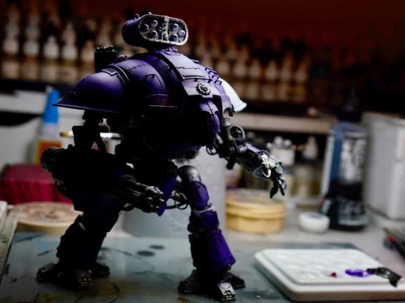 Lighting Styles and Techniques For Miniature Portfolios (Guide) - Lighting techniques for better miniature photos - lighting for miniature photography - lighting styles for miniature and model photos - hobby photography scale modeling photos - splith lighting style imperial knight