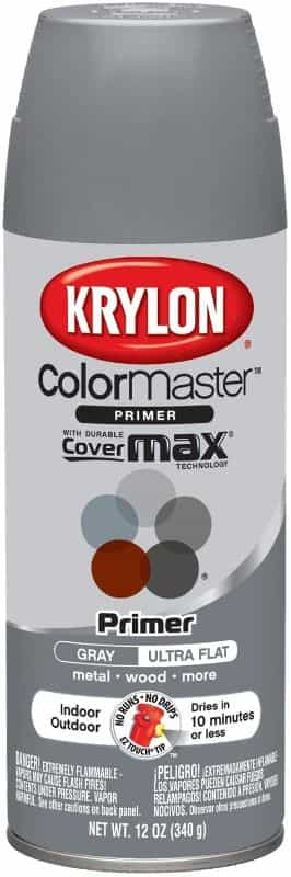 7 Best Spray Primers for Miniatures and Models (Review and Recommendation) - best spray primer for painting miniatures and models - spray priming miniatures - recommended spray primers for scale model hobbies - Krylon Colormaster primer for miniatures and model painting