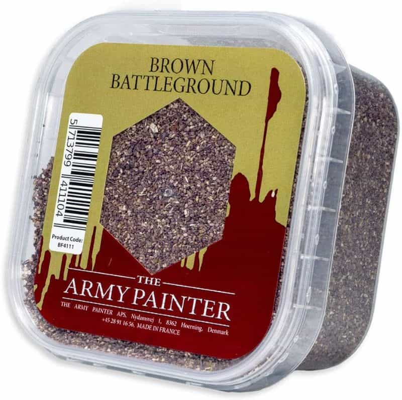 Basing sand for miniatures - miniature basing materials - miniature basing kits - how to use sand for basing models and miniatures - games workshop basing sand - citadel sand alternative - miniature basing sand - The Army Painter Brown Battleground basing material