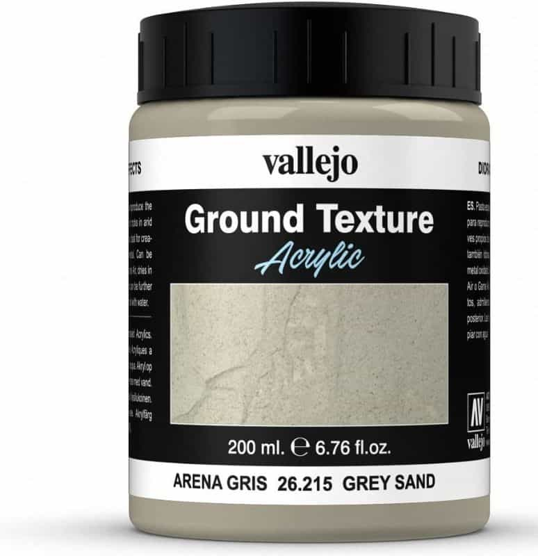 Basing sand for miniatures - miniature basing materials - miniature basing kits - how to use sand for basing models and miniatures - games workshop basing sand - citadel sand alternative - miniature basing sand - Vallejo Ground texture vallejo sandy paste
