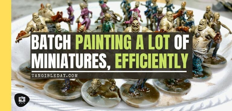 Batch Painting Miniatures (Tips and Tutorial) - how to assembly line paint models for warhammer 40k and board games - banner image