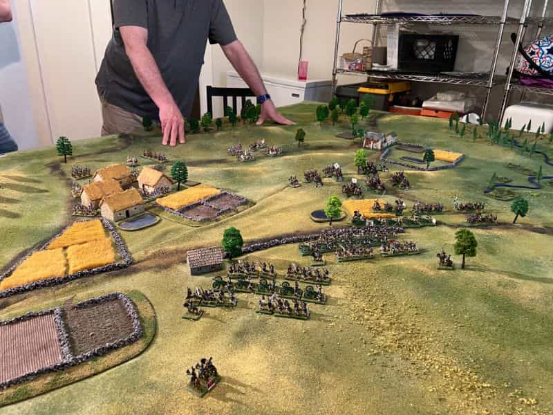 Best historical wargame for tabletop gamers - Carnage and Glory II miniature tabletop wargame - tactical miniature wargaming - best historical miniature wargame - Carnage and Glory Gameplay Review - computer generated gameplay in progress