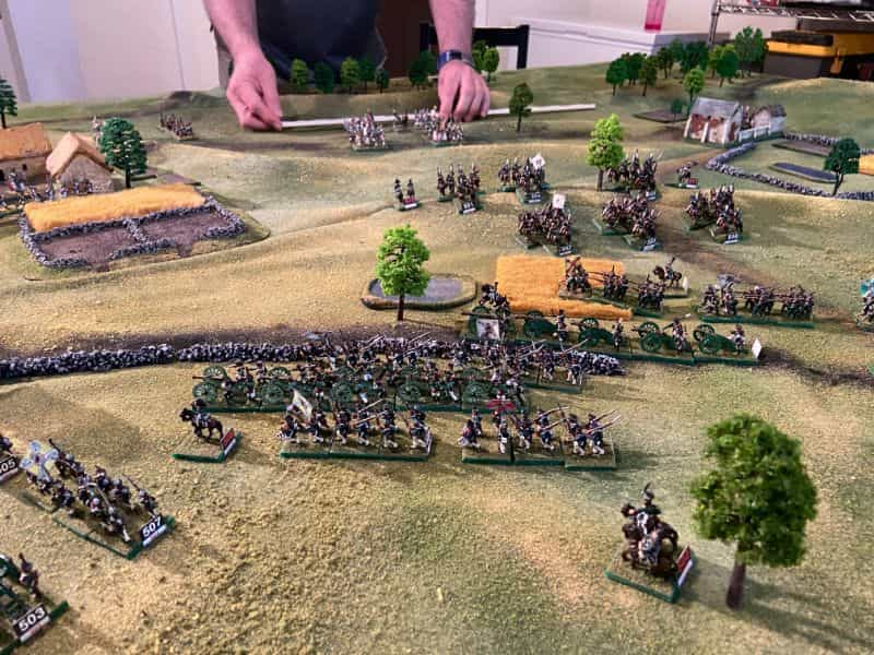 Best historical wargame for tabletop gamers - Carnage and Glory II miniature tabletop wargame - tactical miniature wargaming - best historical miniature wargame - Carnage and Glory Gameplay Review - soldiers engaged