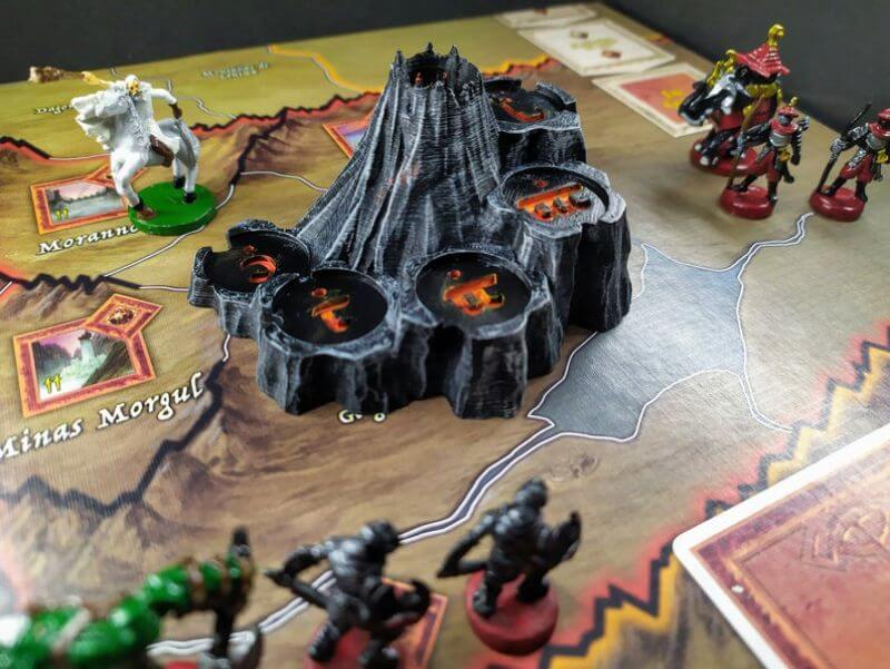 War of the Ring 2nd Edition Board Game Review - Lord of the Ring games - etsy mount doom terrain