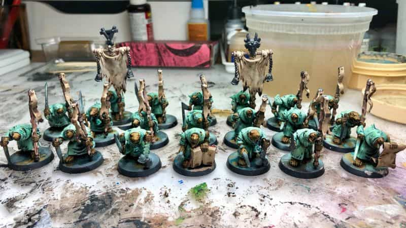 Batch Painting Miniatures (Tips and Tutorial) - how to assembly line paint models for warhammer 40k and board games - skaven miniatures