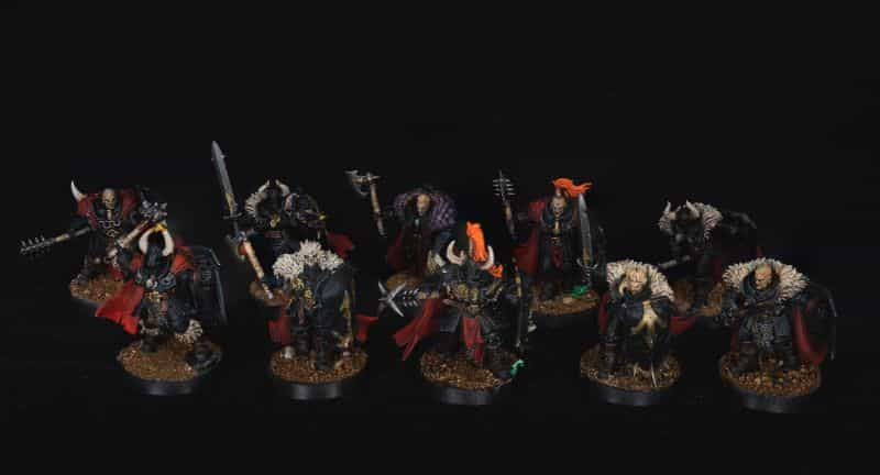 Batch Painting Miniatures (Tips and Tutorial) - how to assembly line paint models for warhammer 40k and board games - age of sigmar chaos models