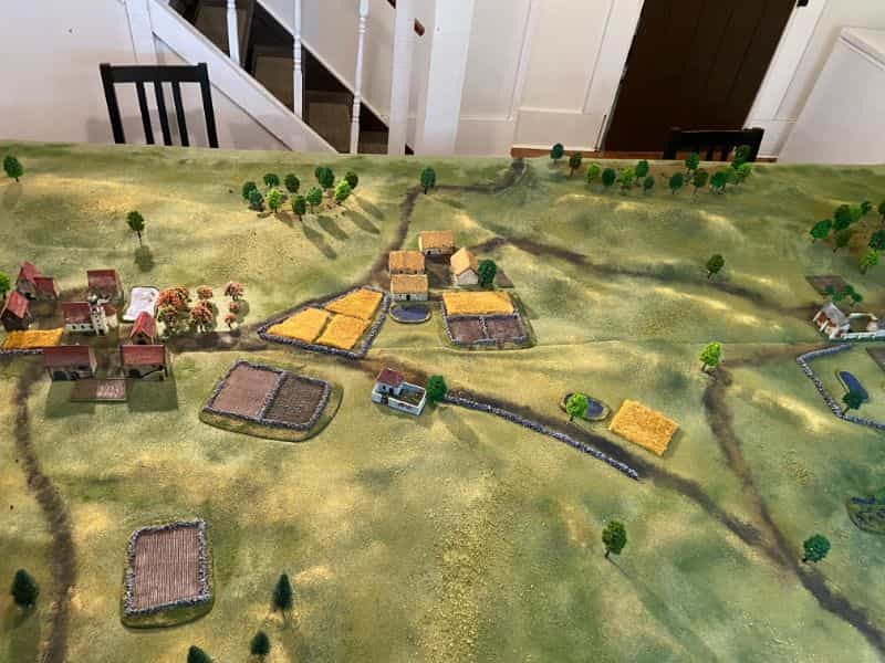Best historical wargame for tabletop gamers - Carnage and Glory II miniature tabletop wargame - tactical miniature wargaming - best historical miniature wargame - Carnage and Glory Gameplay Review - tabletop battlefield bird's eye view