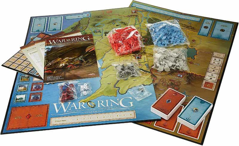War of the Ring 2nd Edition Board Game Review - Lord of the Ring games - Board game components