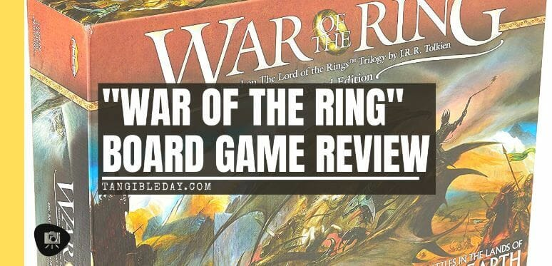 War of the Ring 2nd Edition Board Game Review - Lord of the Ring games - board game review for War of the Ring - Free Peoples versus Shadow - Banner
