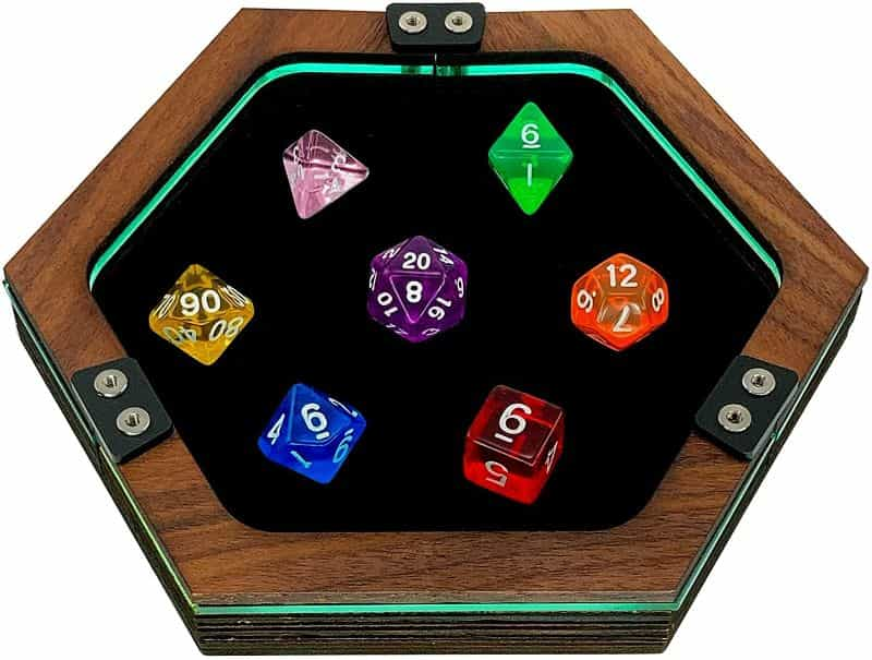 Best Dice Rolling Surface Materials for Quieter Dice Trays (Ideas) - best dice rolling material - dice tray material ideas - dampening materials for dice trays - velvet material