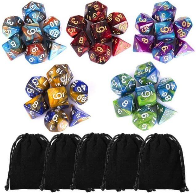 The Best D&D Dice Sets for Every Budget: 15 Cool Dice for RPGs - cool dnd dice - d20 dice for RPGs - best dice for D&D - dice for dungeons and dragons -  dice plastic