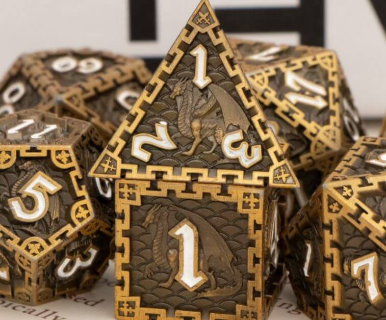 The Best D&D Dice Sets for Every Budget: 15 Cool Dice for RPGs - cool dnd dice - d20 dice for RPGs - best dice for D&D - dice for dungeons and dragons - fantasy dice