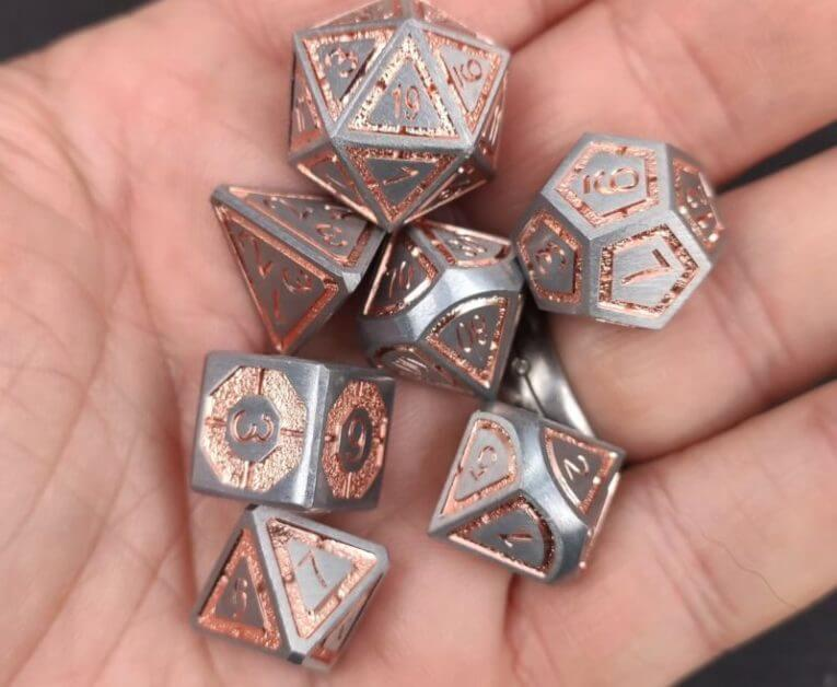 The Best D&D Dice Sets for Every Budget: 15 Cool Dice for RPGs - cool dnd dice - d20 dice for RPGs - best dice for D&D - dice for dungeons and dragons - copper dwarven