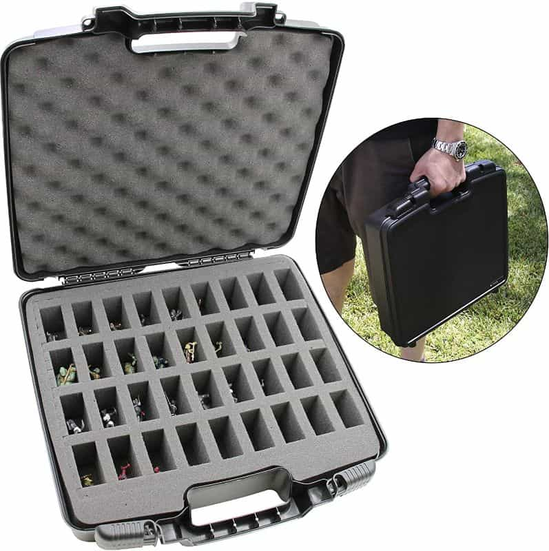 11 Best D&D Miniature Carrying Cases and Storage Options - best carrying cases for rpg miniatures - dnd miniature carry cases - DnD miniature transport case for gamers - hardshell miniature case for travel