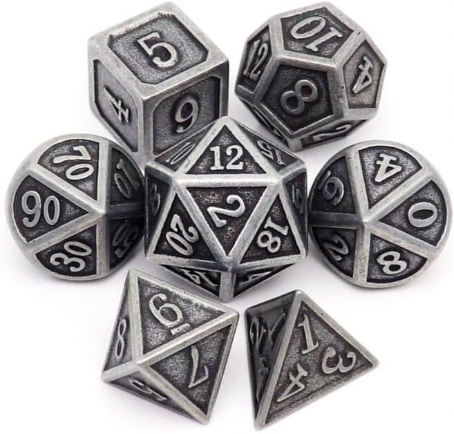 The Best D&D Dice Sets for Every Budget: 15 Cool Dice for RPGs - cool dnd dice - d20 dice for RPGs - best dice for D&D - dice for dungeons and dragons - metal dice