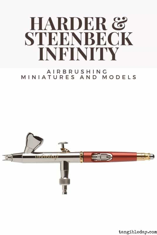 Airbrushing Miniatures: A Complete Guide - painting miniatures with airbrushes - guide to airbrushing miniatures and models - Harder and Steenbeck Infinity airbrush