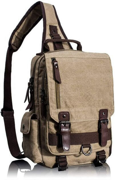 13 Best Bags for Dungeons and Dragons and RPGs - Best bag for RPG books - dungeons and dragons bag - rpg backpack - Leaper Canvas Messenger Sling Bag