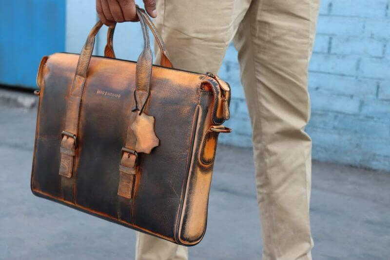 Leather Briefcase Satchel